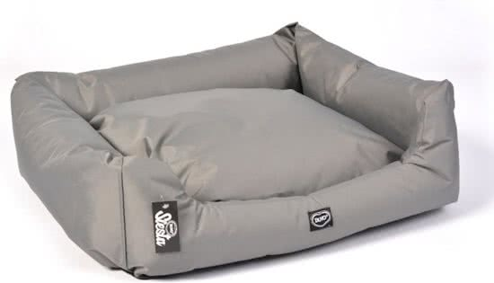 Duvo BED SIESTA OYSTER Donkergrijs 40x50 cm