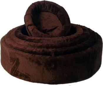 Merkloos Bed Teddymand Bruin 80 cm