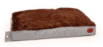51 Degrees North Hondenkussen Herringbone Box Pillow Lichtgrijs 100 x 70 x 15 cm