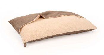 51 Degrees North Hondenkussen Pillowbag Herringbone Beige & Bruin 100 x 70 cm