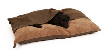 51 Degrees North Hondenkussen Pillowbag Herringbone Bruin 100 x 70 cm