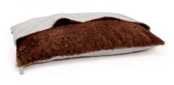 51 Degrees North Hondenkussen Pillowbag Herringbone Licht Grijs & Bruin 100 x 70 cm