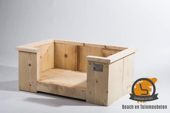 Beach en Tuinmeubelen steigerhouten hondenmand Overig 40x40 cm