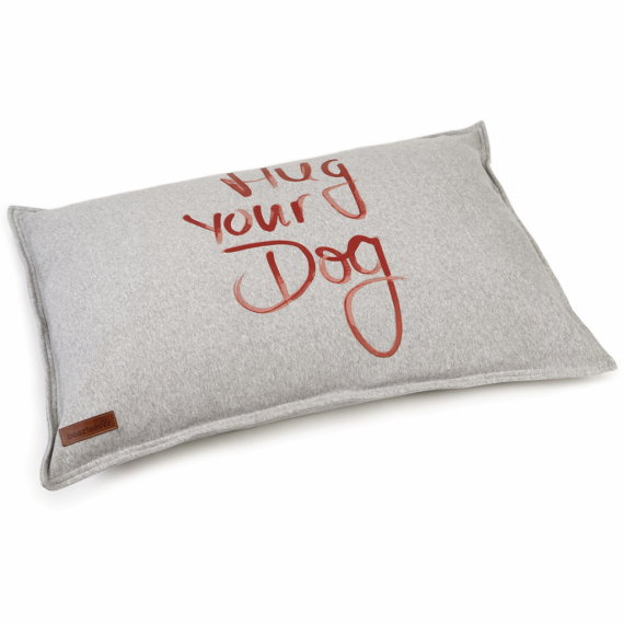 Beeztees Hondenkussen Hug Your Dog Grijs x70 cm