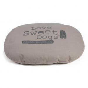 Beeztees Hondenkussen Sweet Dogs mokka 95 x 75 cm ovaal 706598