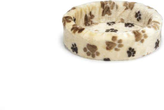 Beeztees Hondenmand - Voetprint Creme 47x50 cm