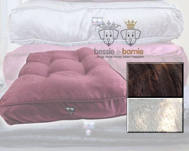 Bessie and Barnie Hondenmand Sicilian Rectangle Bed Blondie Godiva Brown 81 x 66 x 22 cm
