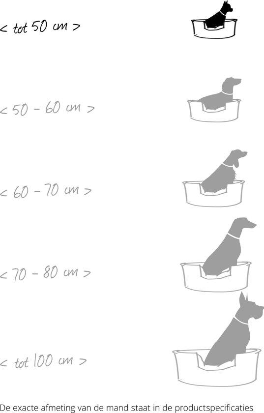 Boon Hondenmand Zilver | Grijs 50x60 cm