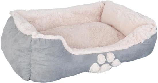 Clayre & Eef Hondenbed Beige   Grijs 68x55 cm