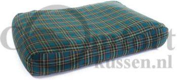 Comfort-Kussen Hondenkussen Schotse ruit Groen 75x100 cm