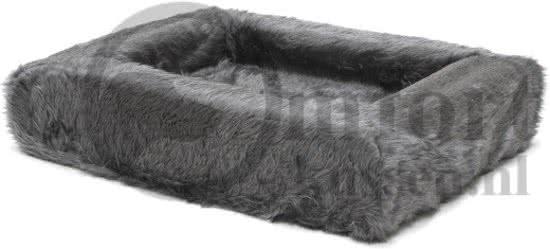 Comfort-Kussen Overtrek voor hondenmand Teddy Grijs 85x70 cm