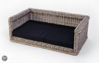 Comfort-Kussen Rieten hondensofa Bruin 75x105 cm