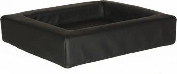 Comfort-Kussen hondenmand leatherlook Zwart 50x60 cm