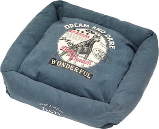 D&D Square Bed Hunt Blauw 80x80 cm