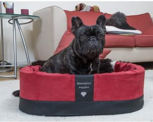 Doggybed-Orthopedische-Hondenmand-Paddy-Style-Rood-55×42-cm-1
