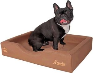 Doggybed-Orthopedische-Hondenmand-Soft-Style-Mocca-50×75-cm-1