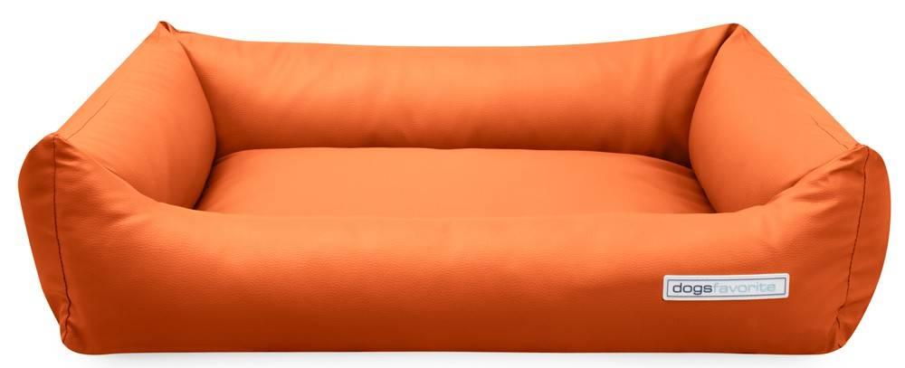 Dogsfavorite Hondenmand Kunstleer Oranje 70 x 55 cm