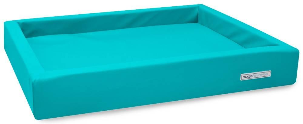 Dogsfavorite Hondenmand Lounge Kunstleer Turquoise 80 x 60 cm