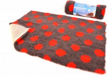 Duvo VETBED ANTI-SLIP Grijs/Rood 150x100 cm