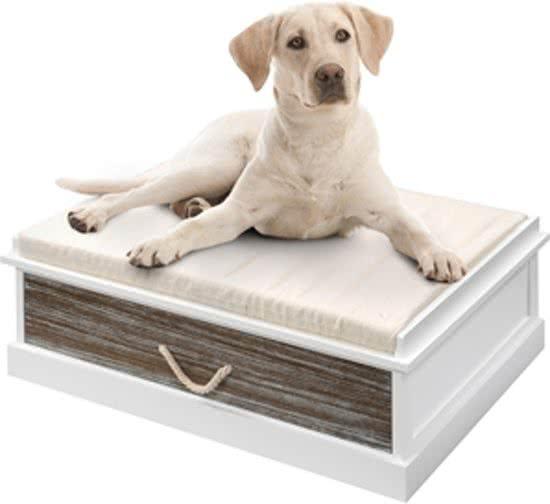 Ebi Heartfelt hondenmand lounge darwin met lade Wit 70x100 cm