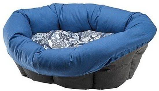 Ferplast sofa kussen blauw zwart wit cm hondenmanden en