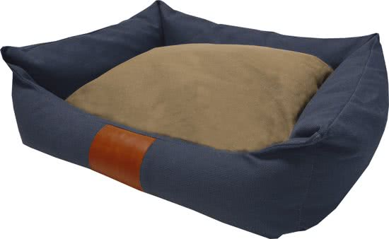 Frankie Canvas Lock - Hondenmand Marine Blauw 60X70 Cm