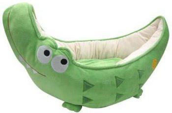 Happy Puppy Hondenmand Krokodil Bed Groen  Happy Puppy Heeft Een Geweldig Assortiment Aan Leuke Bedden Voor Jouw Kleine Huisdier. 38X70 Cm
