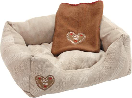 Kerbl Hondenbed Love You Beige | Pink 50x34 cm