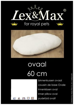 Lex & Max Binnenkussen Wit 40x60 cm