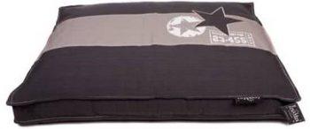 Lex & Max Boxbed Band Ster Antraciet Met Licht Grijsafmeting: 120X80X9 Cm 80x120 cm