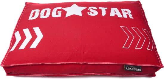 Lex & Max Dogstar - Hondenkussen - Boxbed Rood 80x120 cm