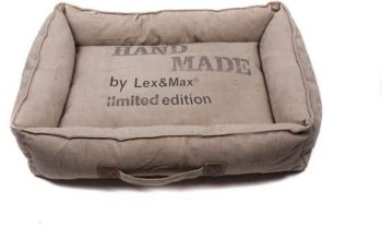 Lex & Max Handmade - Hondenmand Bruin | Kiezel 45x60 cm