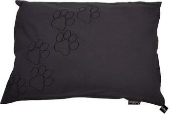 Lex & Max Happy Feet - Hondenkussen Zwart | Antraciet | Grijs 70x100 cm