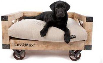 Lex & Max Hondenbank Bruin 53x88 cm