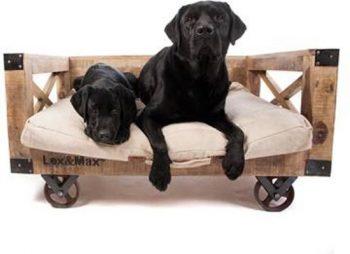 Lex & Max Hondenbank Bruin 68x103 cm