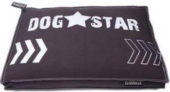 Lex & Max Hondenkussen Boxbed Dogstar Antraciet Met Witte Opdrukafmeting: 120X80X9 Cm 80x120 cm