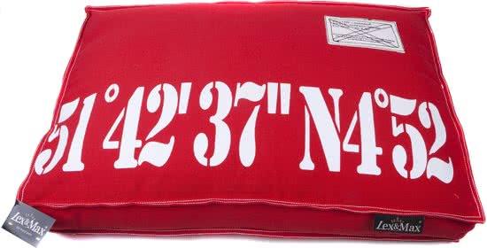 Lex & Max Hondenkussen - Boxbed Rood 50x75 cm