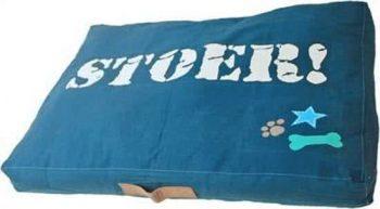 Lief! Lounge Ligkussen Boys - Hondenkussen Donkerblauw 60x85 cm