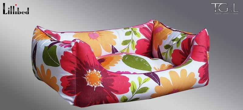 Lillibed® Hondenmand Hawaii Flower Rood 57 x 45 x 22 cm