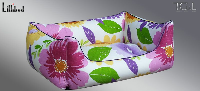 Lillibed® Hondenmand Hawaii Flower Violet 57 x 45 x 22 cm