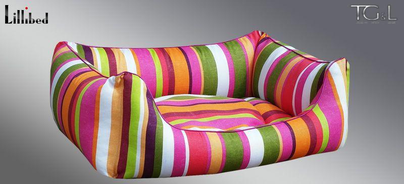 Lillibed® Hondenmand Hawaii Stripes Rood 57 x 45 x 22 cm