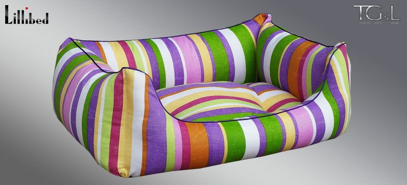 Lillibed® Hondenmand Hawaii Stripes Violet 57 x 45 x 22 cm