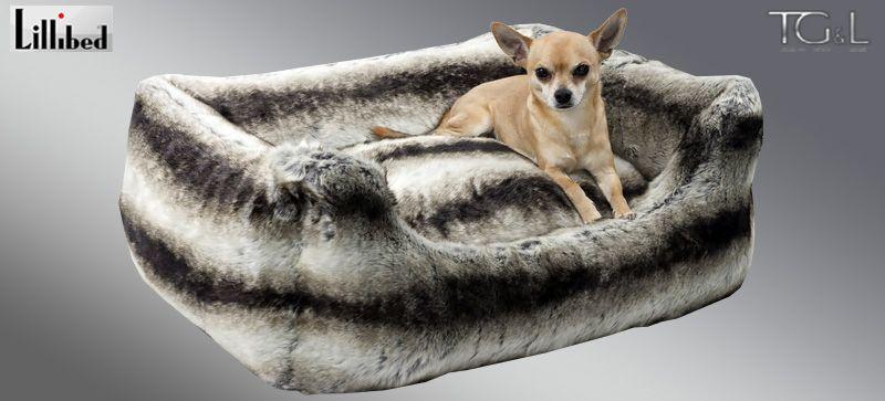 Lillibed® Hondenmand Imitatiebont Chinchilla Zilvergrijs 57 x 45 x 22 cm