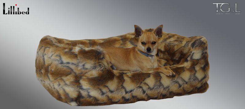 Lillibed® Hondenmand Imitatiebont Geit 57 x 45 x 22 cm