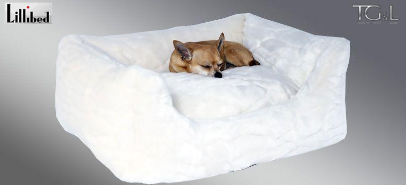 Lillibed® Hondenmand Imitatiebont Hermelijn 57 x 45 x 22 cm