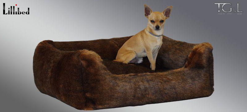 Lillibed® Hondenmand Imitatiebont Sabel 57 x 45 x 22 cm