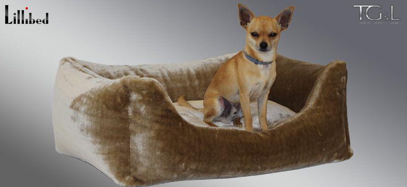 Lillibed® Hondenmand Imitatiebont Teddybear Beige 57 x 45 x 22 cm