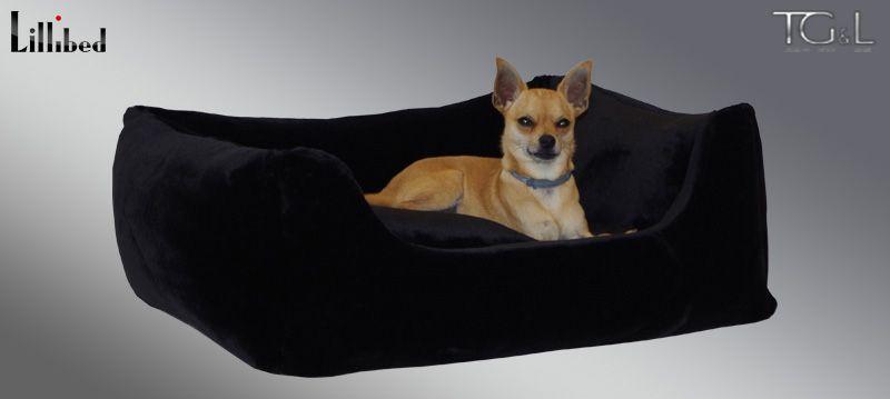 Lillibed® Hondenmand Imitatiebont Teddybear Zwart 57 x 45 x 22 cm