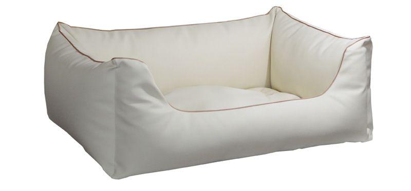 Lillibed® Hondenmand Kunstleer Saga Beige 57 x 45 x 22 cm