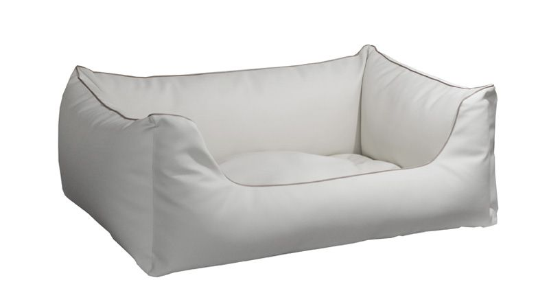 Lillibed® Hondenmand Kunstleer Saga Wit 57 x 45 x 22 cm